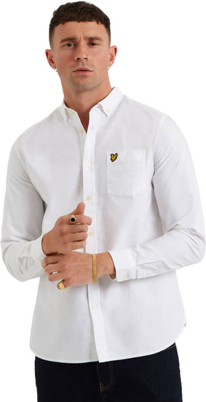 Lyle & Scott Oxford Long Sleeve Shirt White