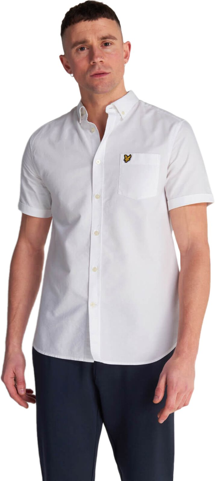 Lyle & Scott Short Sleeve Oxford Shirt White