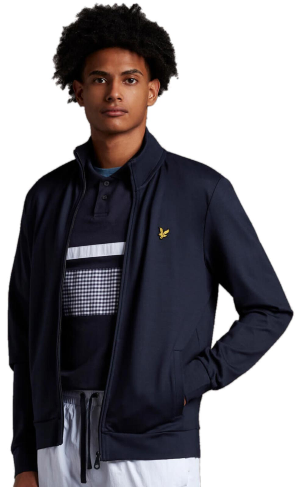 Lyle & Scott Smart Track Top	Dark Navy