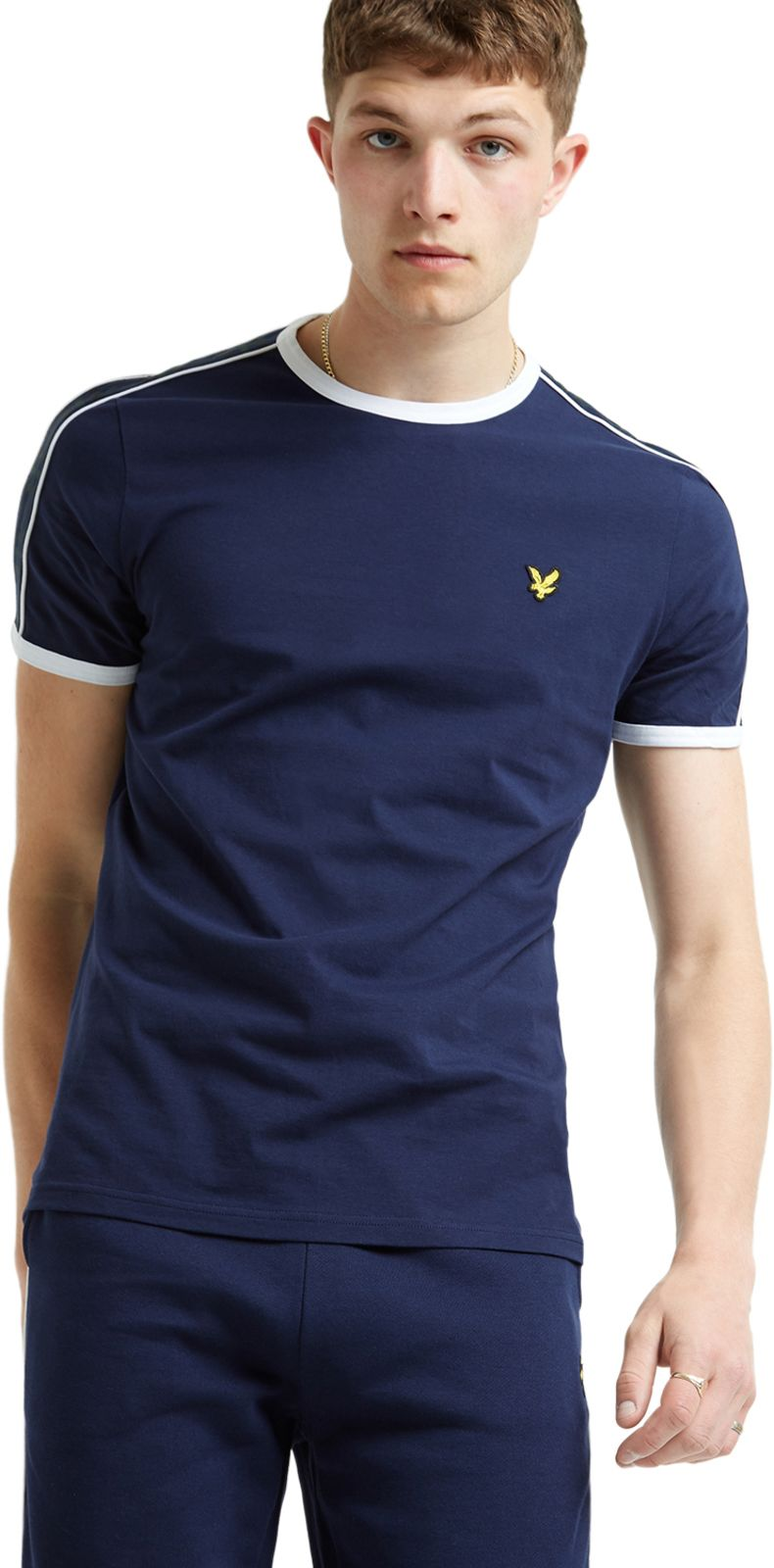 Lyle & Scott Taping Ringer T-Shirt