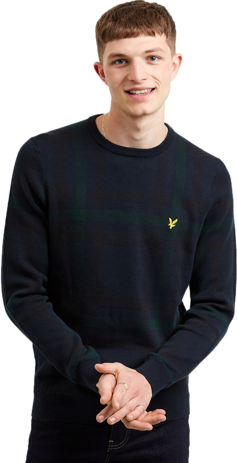 Lyle & Scott Tartan Knit Jumper