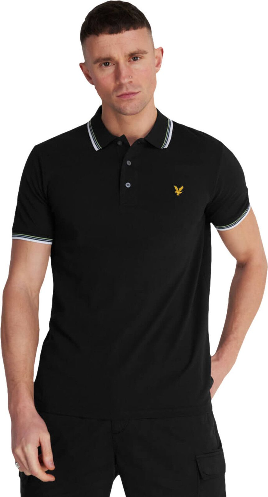 Lyle & Scott Tipped Polo Shirt Black