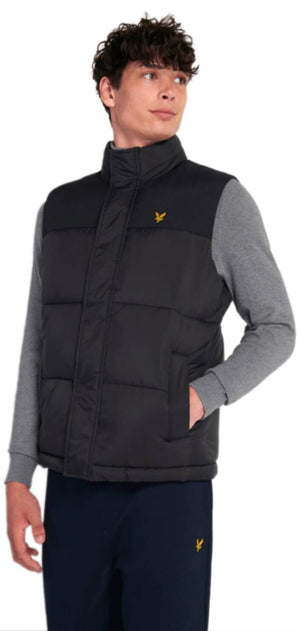 Lyle & Scott Wadded Gilet Black