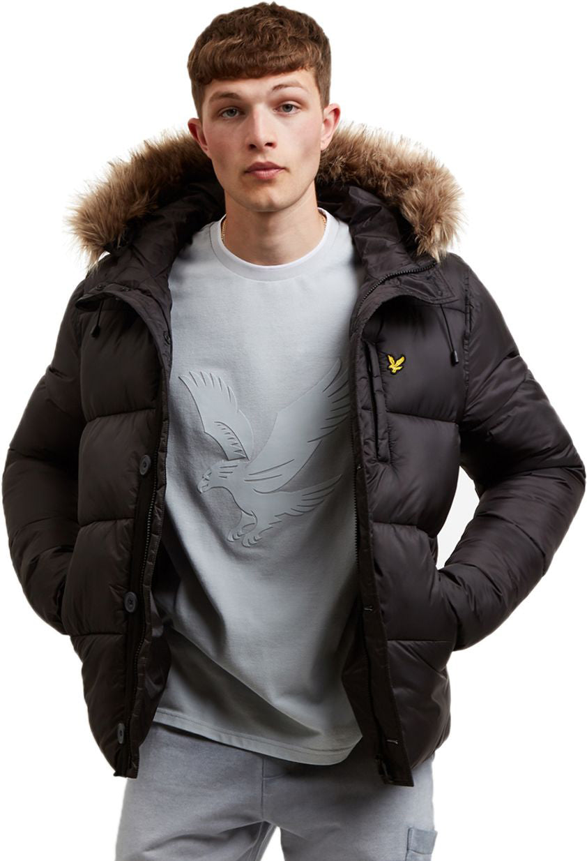 Lyle & Scott Wadded Hooded Bomber Jacket