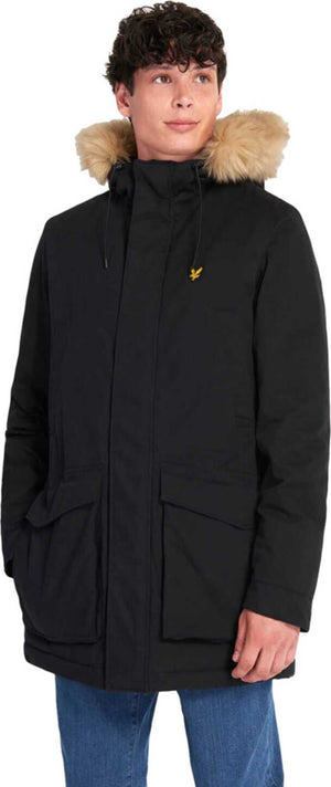 Lyle & Scott Winter Weight Microfleece Lined Parka Jacket	Jet Black