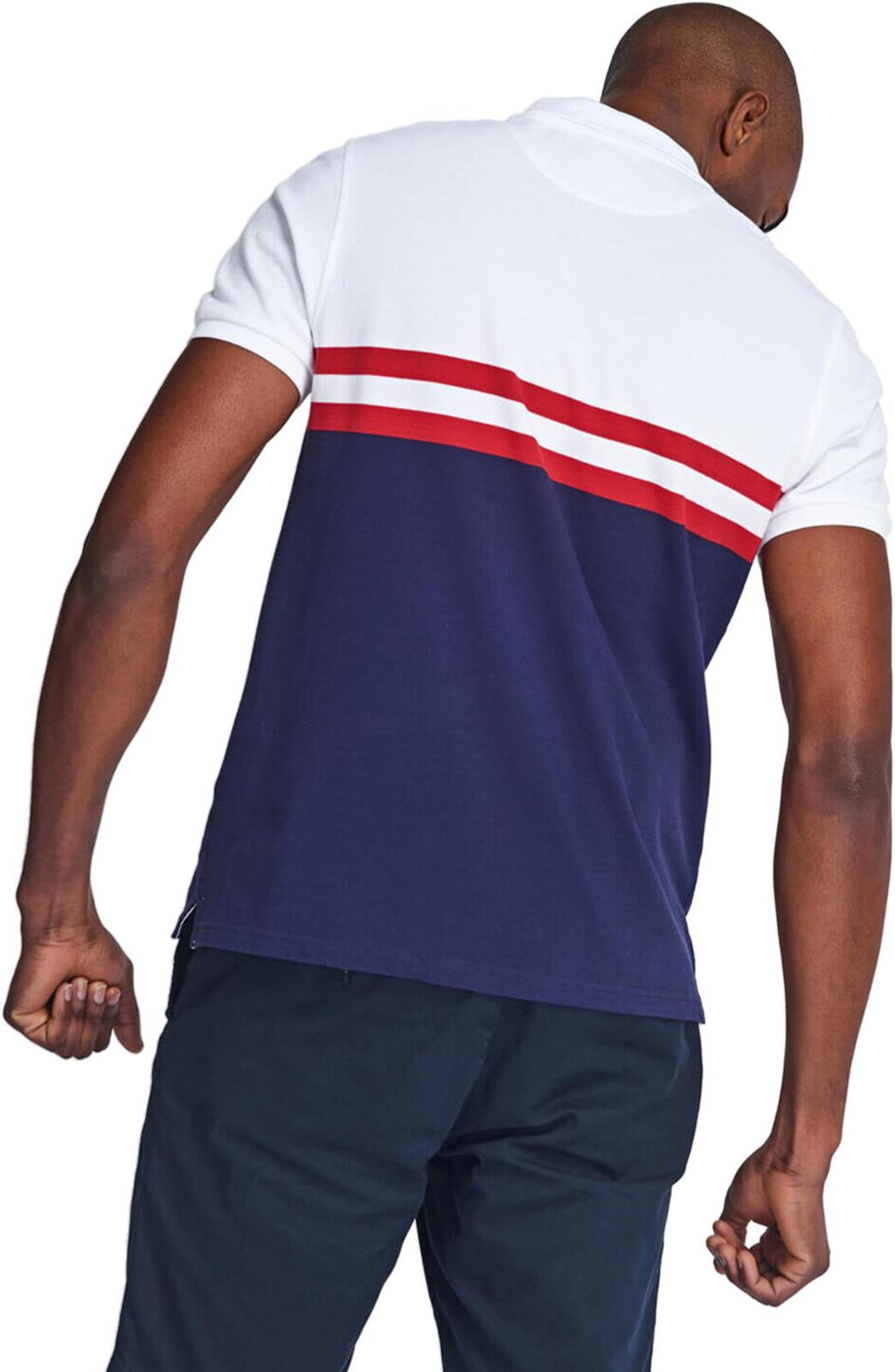 Lyle & Scott Yoke Stripe Polo Shirt White