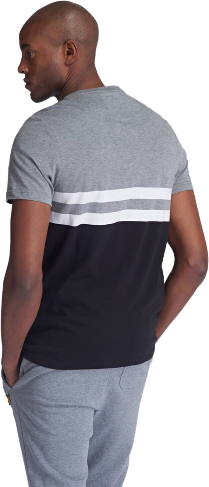 Lyle & Scott Yoke Stripe T-Shirt Grey