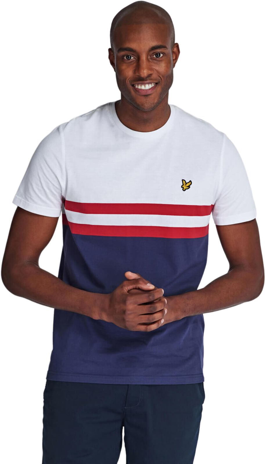 Lyle & Scott Yoke Stripe T-Shirt White
