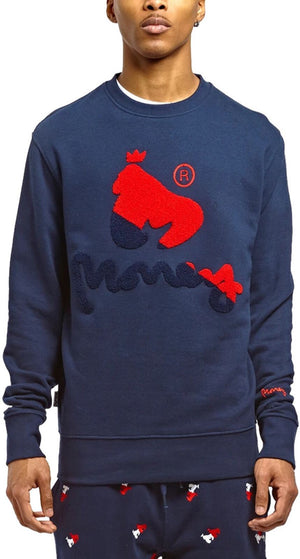Money Chenille Combo Sweatshirt Navy