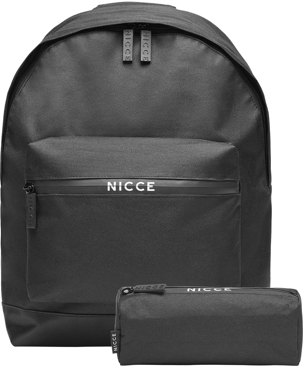 NICCE-Andel-Backpack-Bag-And-Pencil-Case-Set-Black
