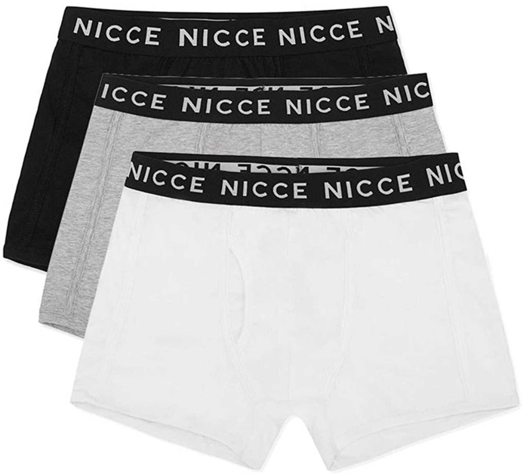 NICCE Codolar 3 Pack Trunk Boxer Shorts Black