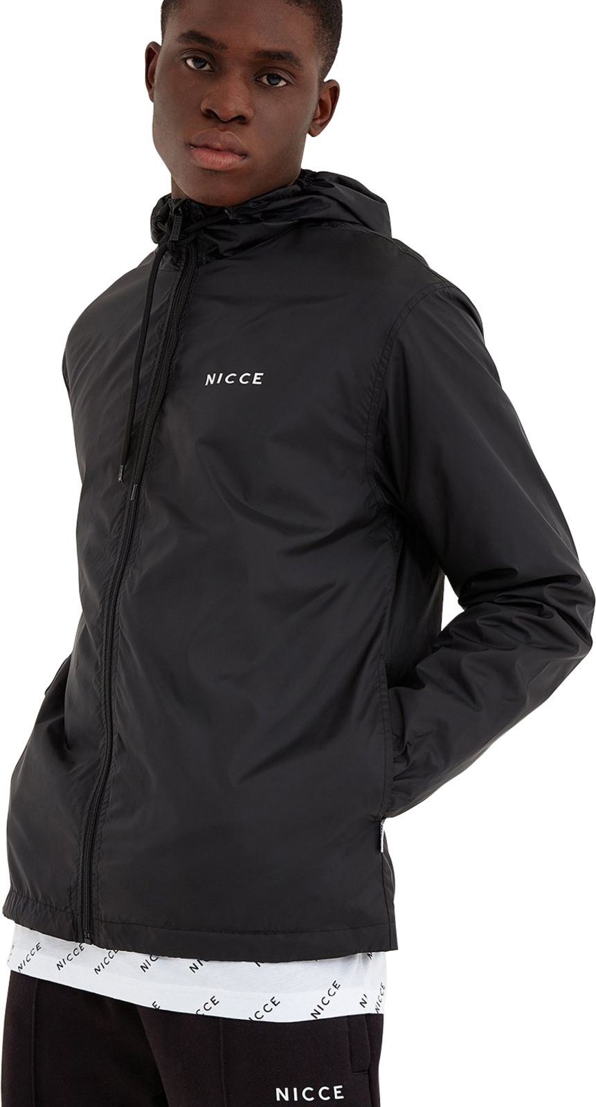 NICCE Core Windbreaker Jacket Black