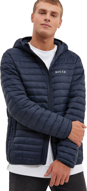 NICCE Maidan Hooded Puffer Jacket Navy