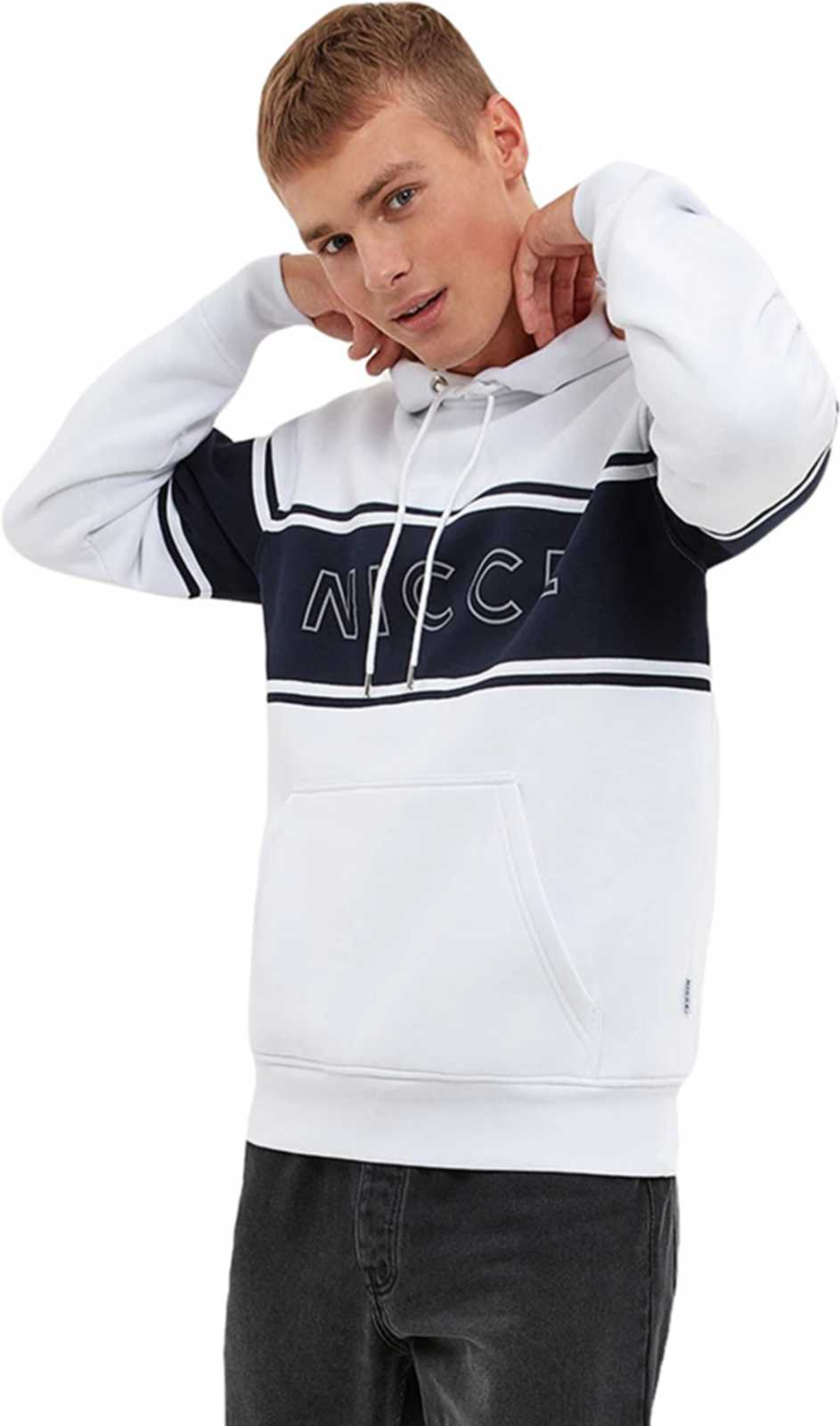 NICCE Panel Hoodie White