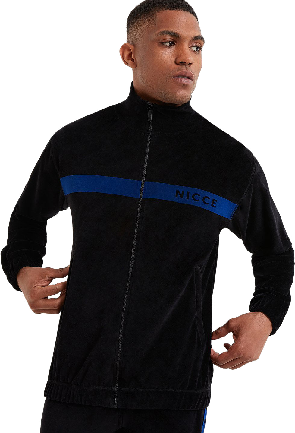 NICCE-Vela-Zip-Front-Track-Top-Black