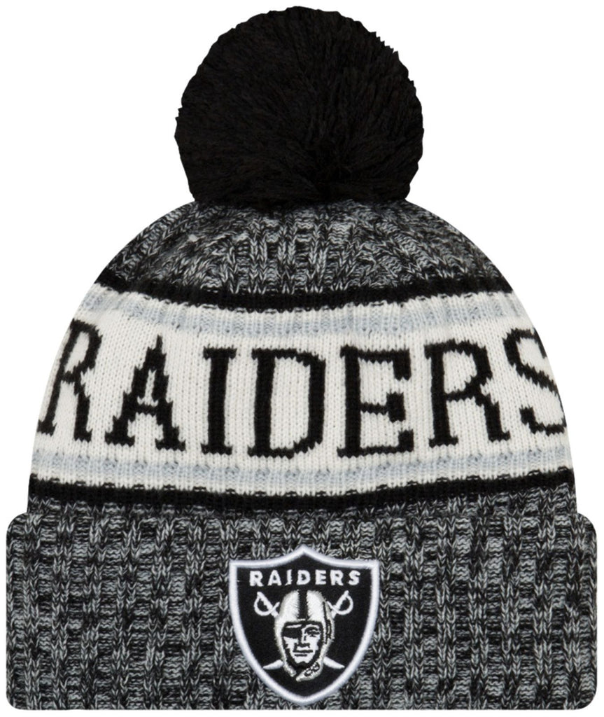 831001b53ea ... coupon for new era nfl18 sport oakland raiders knitted bobble beanie hat  2f9c0 4cc58