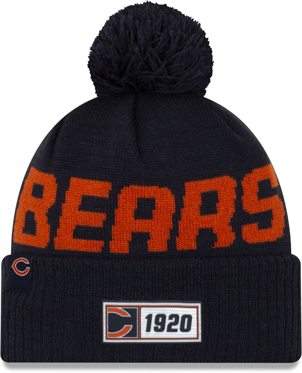 New Era ONF19 Cold Weather Chicago Bears Bobble Beanie Hat Navy