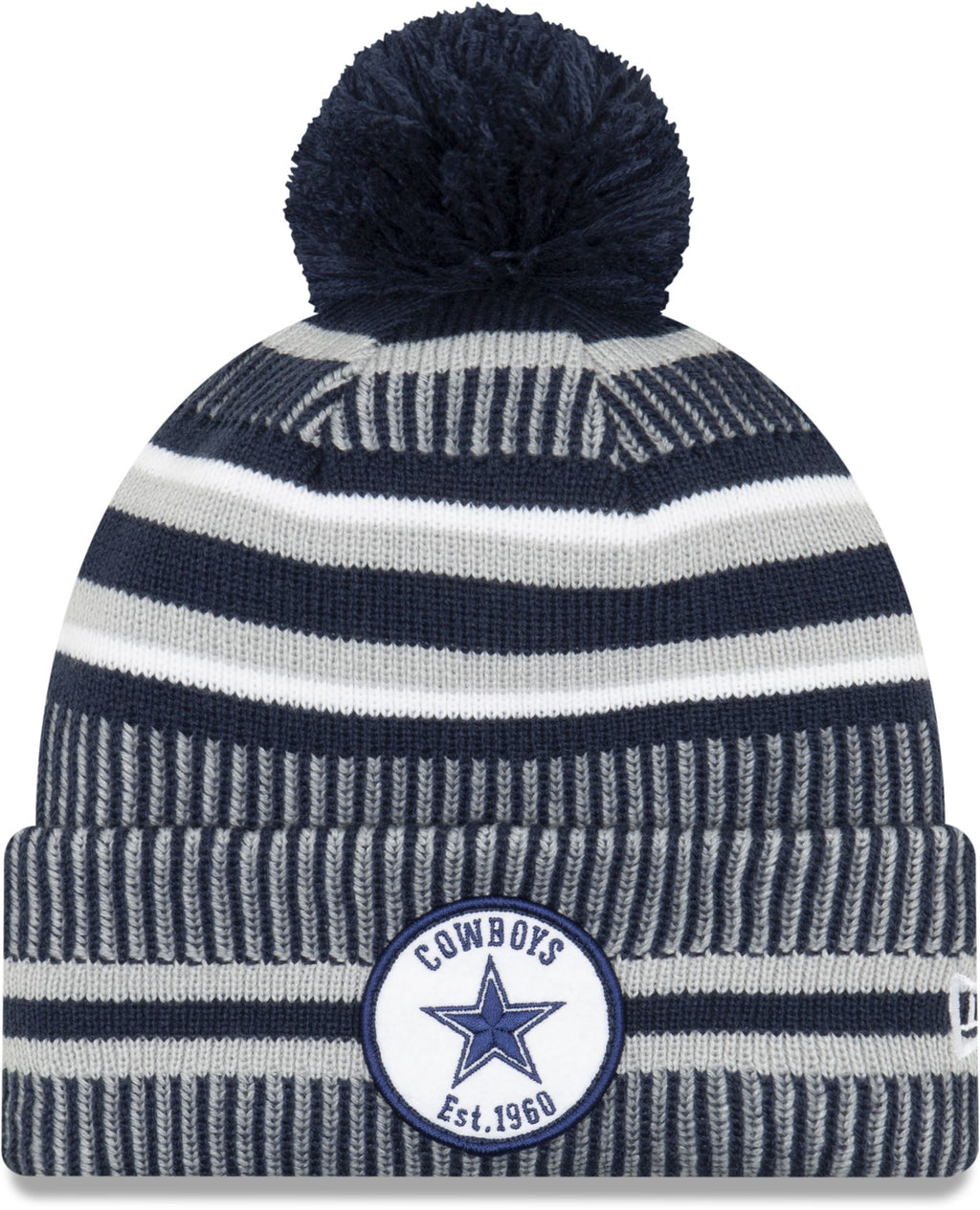 New Era ONF19 Cold Weather Dallas Cowboys Bobble Beanie Hat Navy