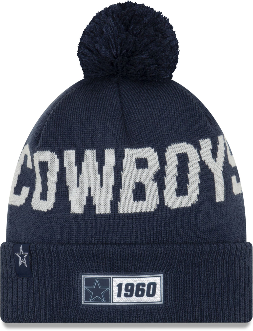 New Era ONF19 Cold Weather Dallas Cowboys Bobble Beanie Hat Blue