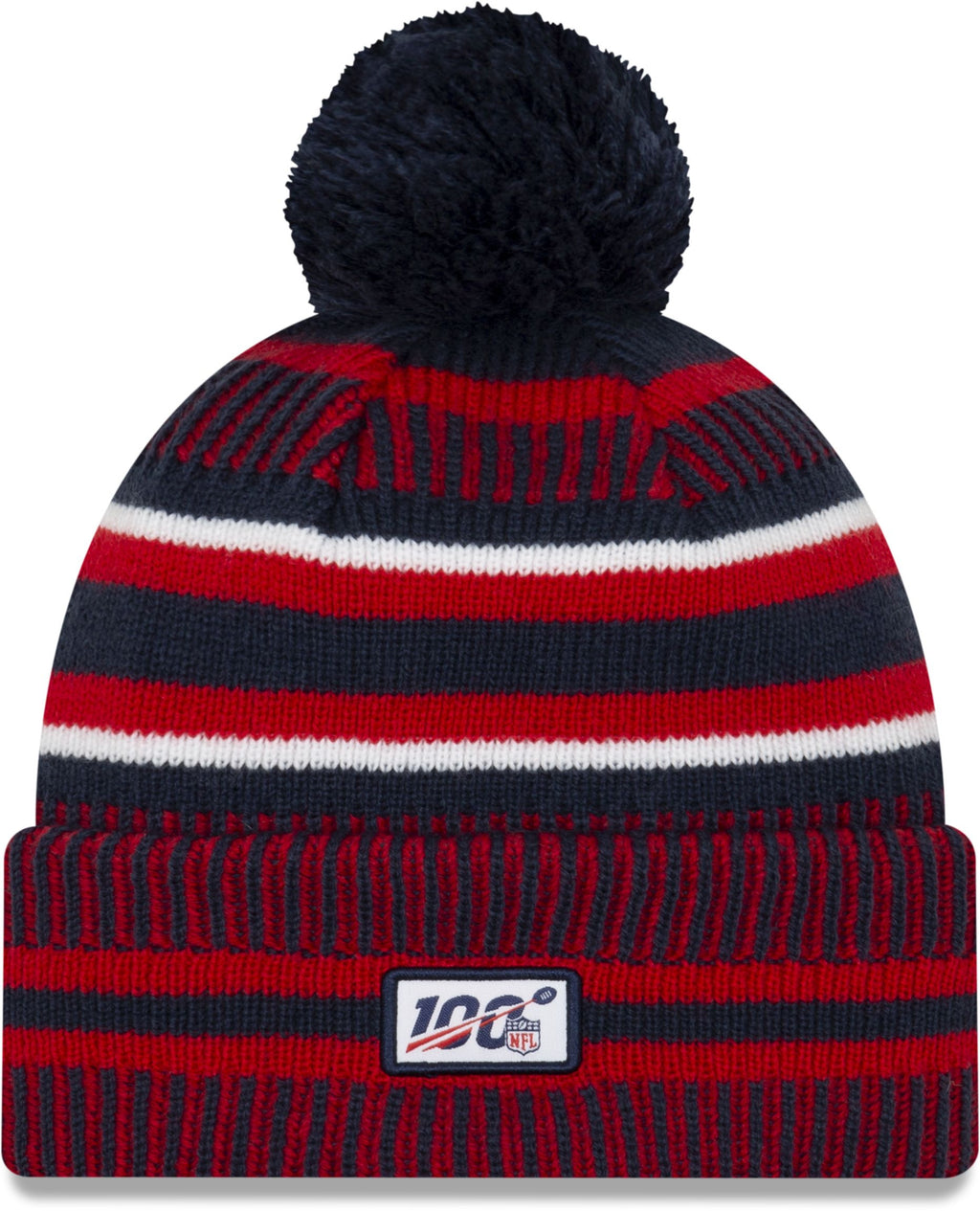 New Era ONF19 Cold Weather New England Patriots Bobble Beanie Hat Navy