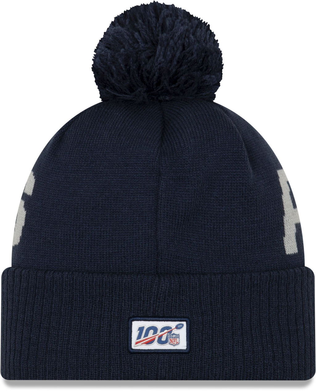 New Era ONF19 Cold Weather New England Patriots Bobble Beanie Hat Blue