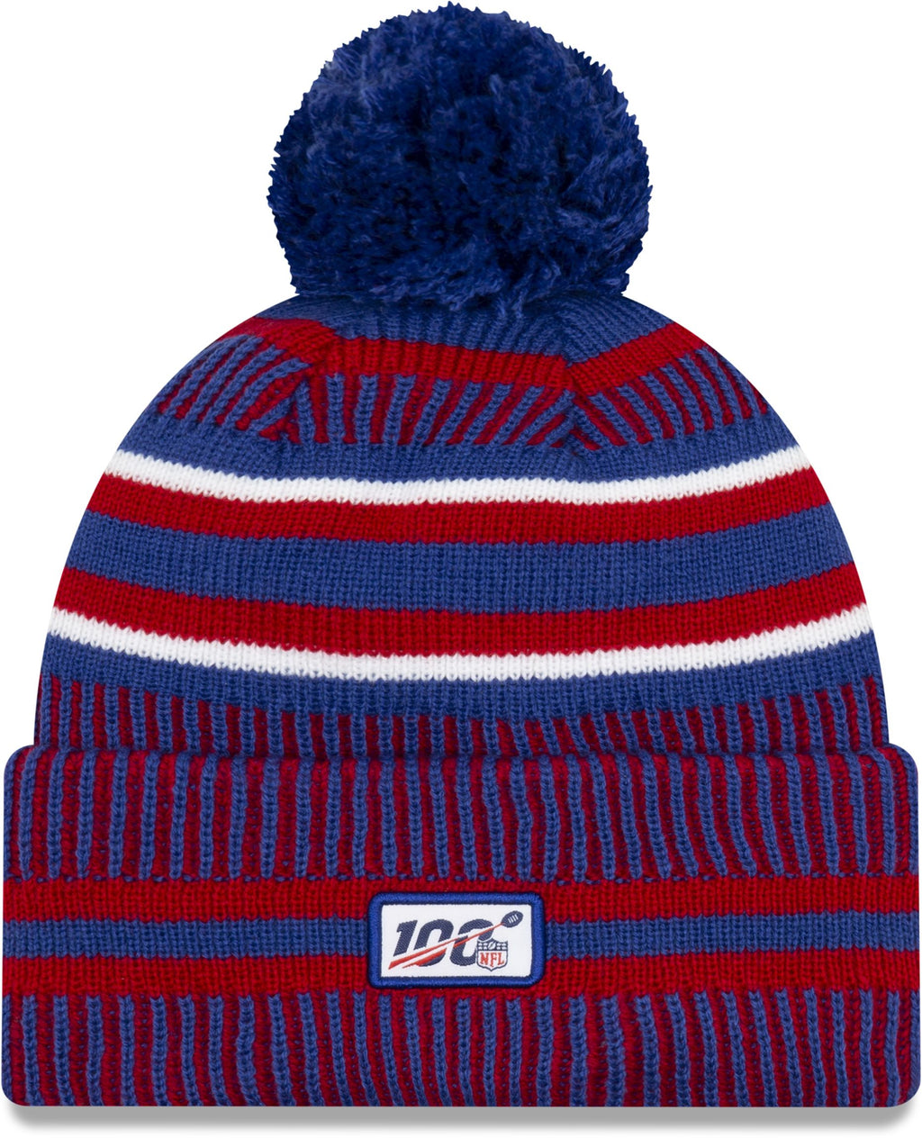 New Era ONF19 Cold Weather New York Giants Bobble Beanie Hat Blue
