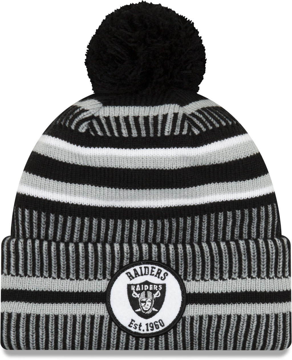 New Era ONF19 Cold Weather Oakland Raiders Bobble Beanie Hat Black