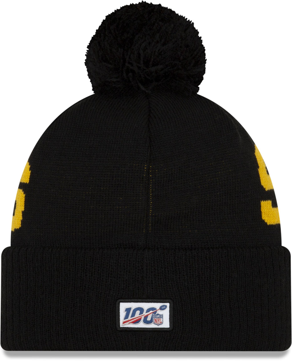 New Era ONF19 Cold Weather Pittsburgh Steelers Bobble Beanie Hat Black