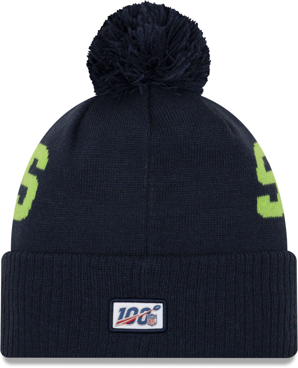 New Era ONF19 Cold Weather Seattle Seahawks Bobble Beanie Hat Blue