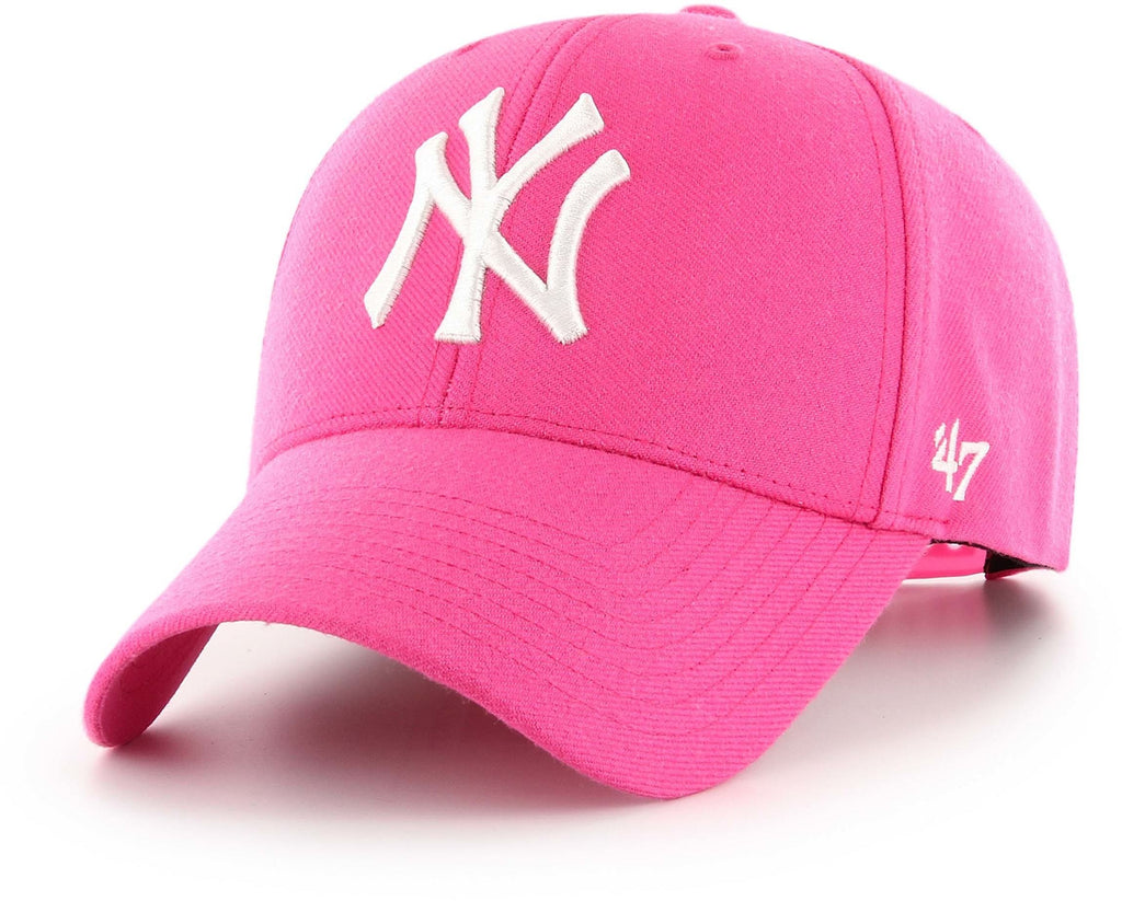 New York Yankees '47 MVP Snapback Baseball Cap Pink