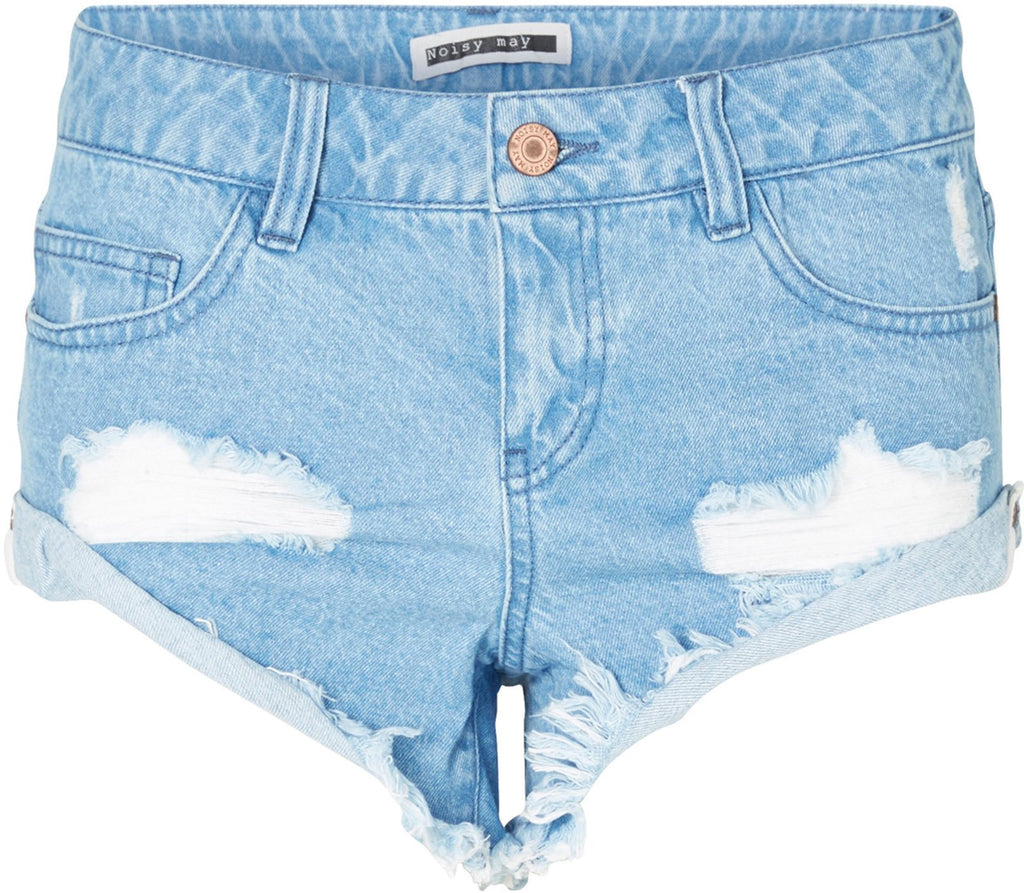 Noisy May Fran Distressed Denim Shorts