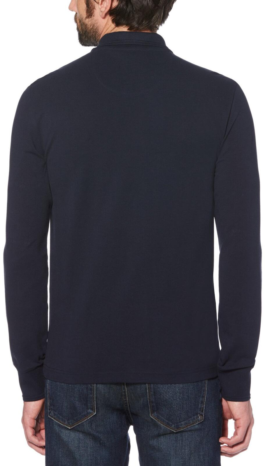 Original Penguin Long Sleeve Polo Shirt Navy