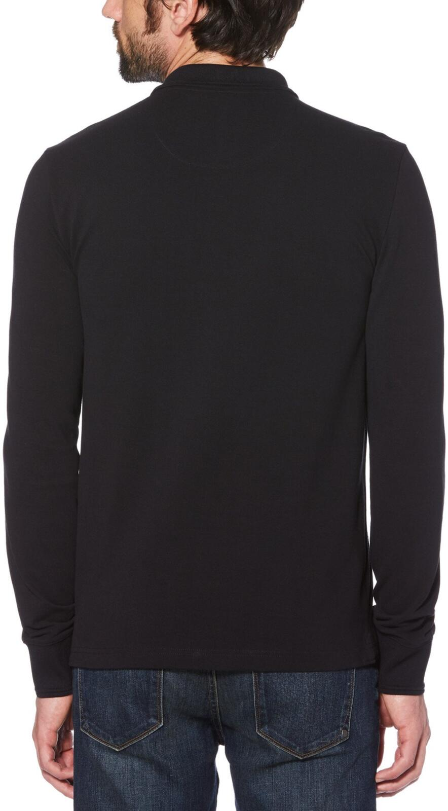 Original Penguin Long Sleeve Polo Shirt Black