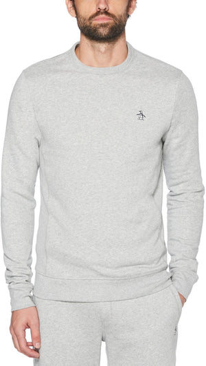 Original Penguin Sticker Pete Sweatshirt Grey