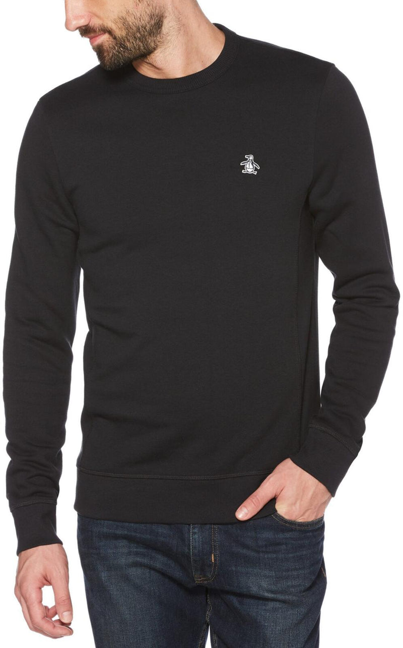 Original Penguin Sticker Pete Sweatshirt Black