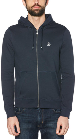 Original Penguin Sticker Pete Zip Hoodie Navy