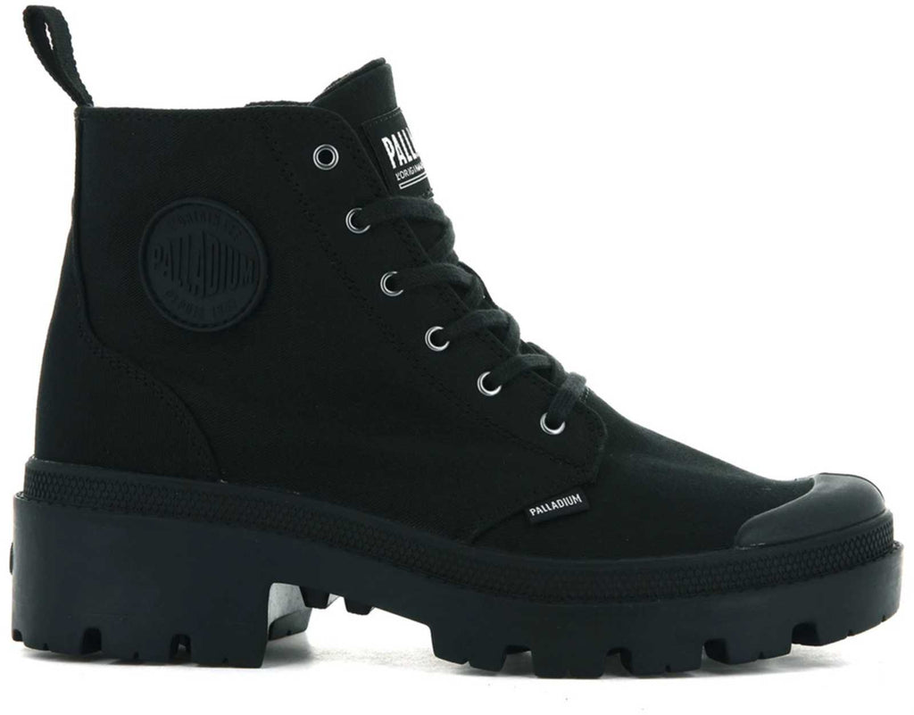 Palladium Pallabase Twill Hiker Boots Black