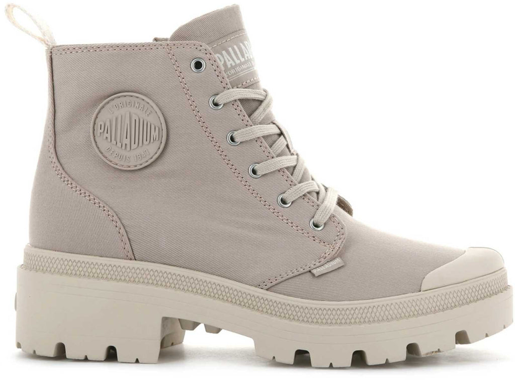 Palladium Pallabase Twill Hiker Boots Light Grey