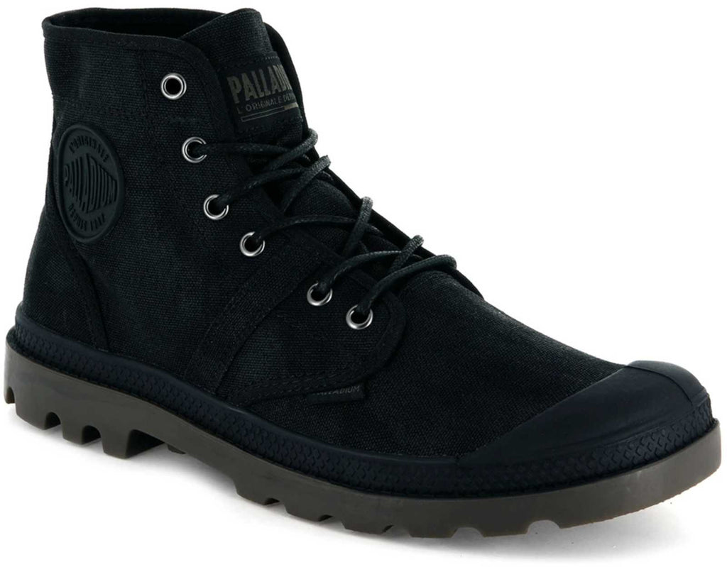 Palladium Pallabrouse Wax Canvas Boots Black