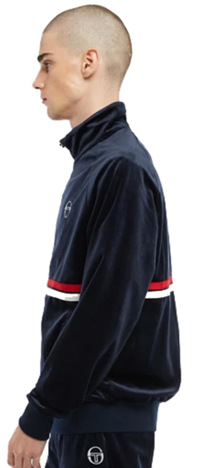 Sergio Tacchini Dallas Velour Track Top Navy