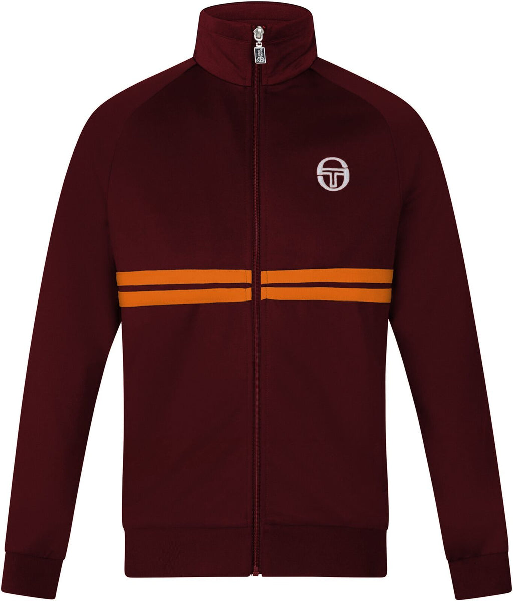 Sergio Tacchini Dallas Zip Front Track Top Burgundy