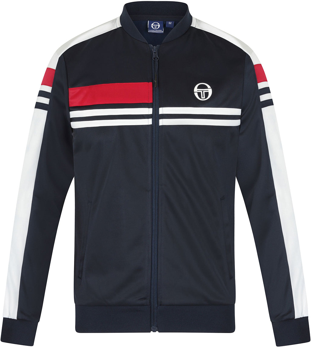 Sergio Tacchini Daxton Zip Front Track Top Navy/White