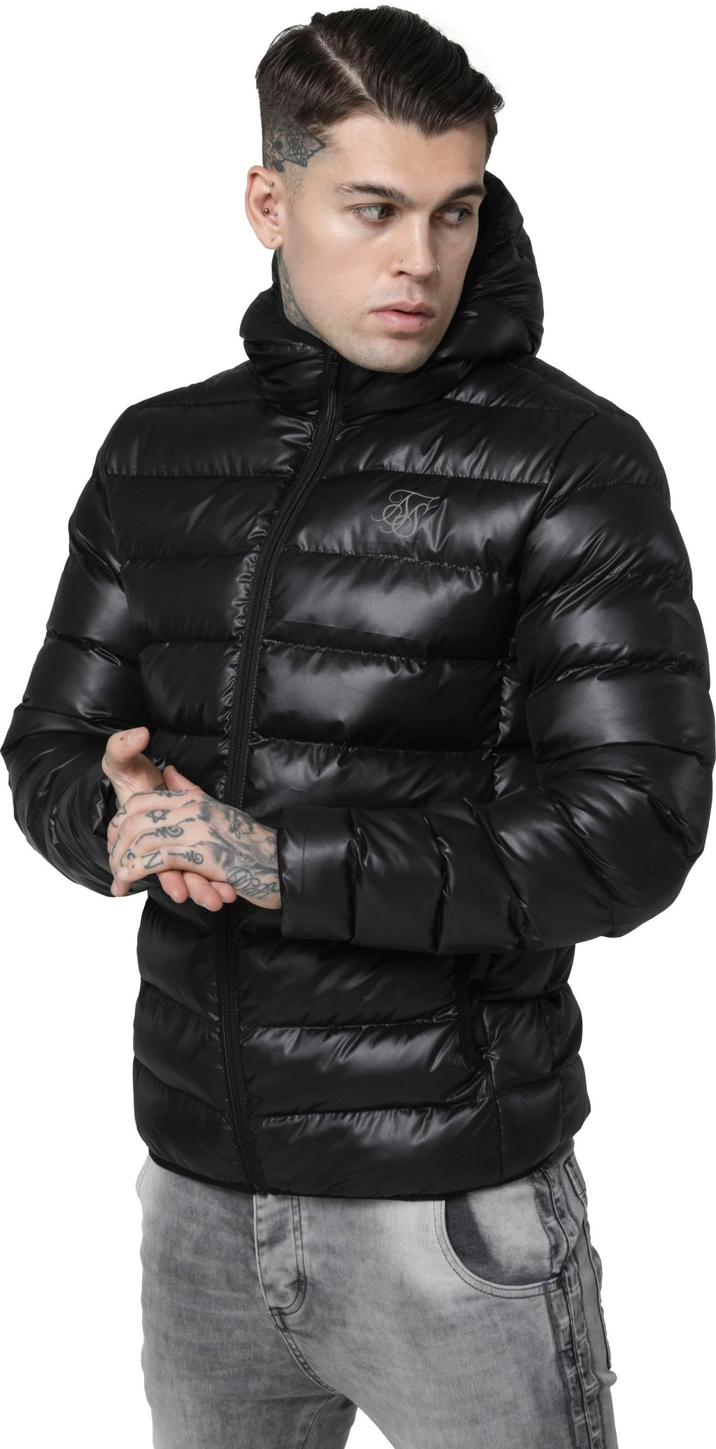Sik Silk Atmosphere Puffer Jacket Black