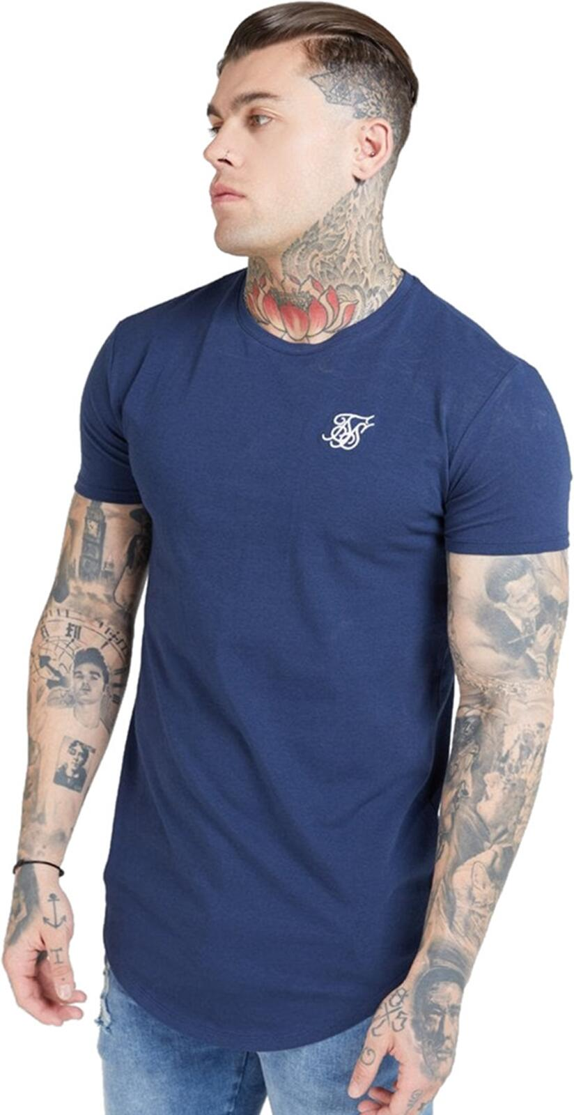 Sik Silk Core Gym T-Shirt Navy