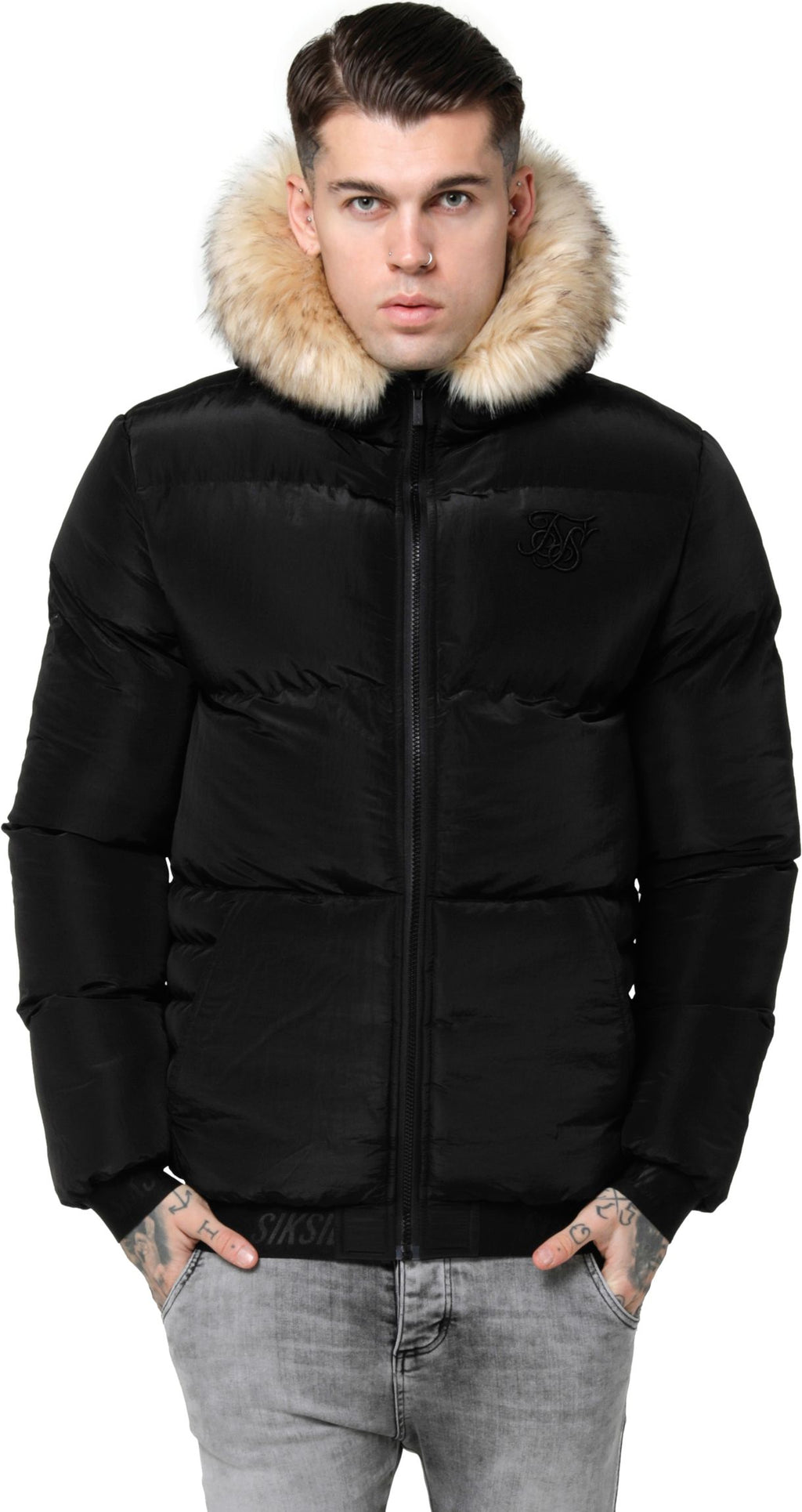 Sik Silk Distance Puffer Jacket Black