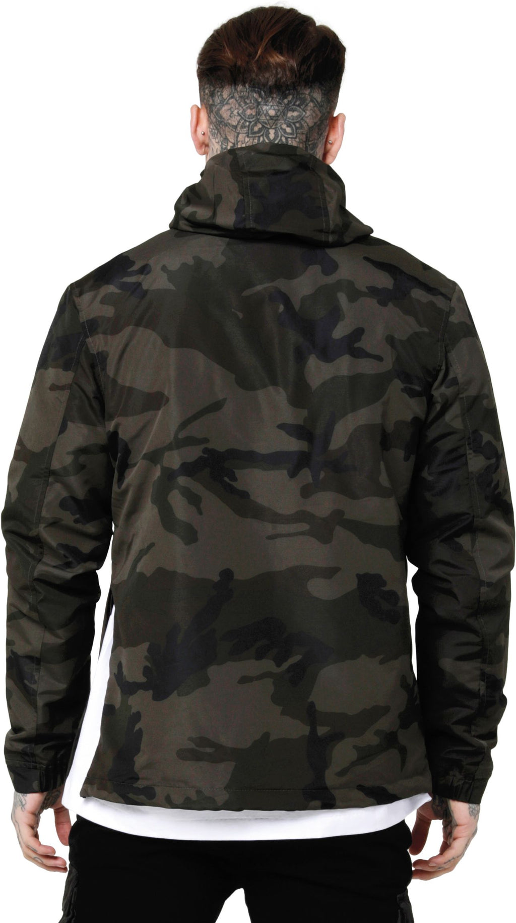 Sik Silk Energy Windbreaker Jacket Camo