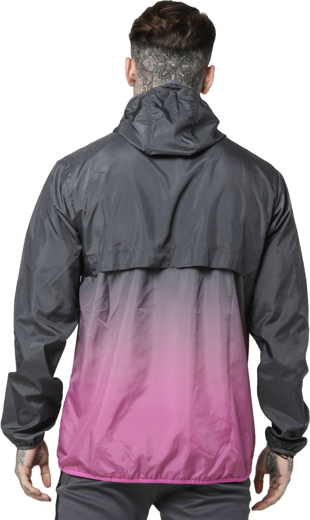 Sik Silk Fade Windrunner Lightweight Jacket Charcoal