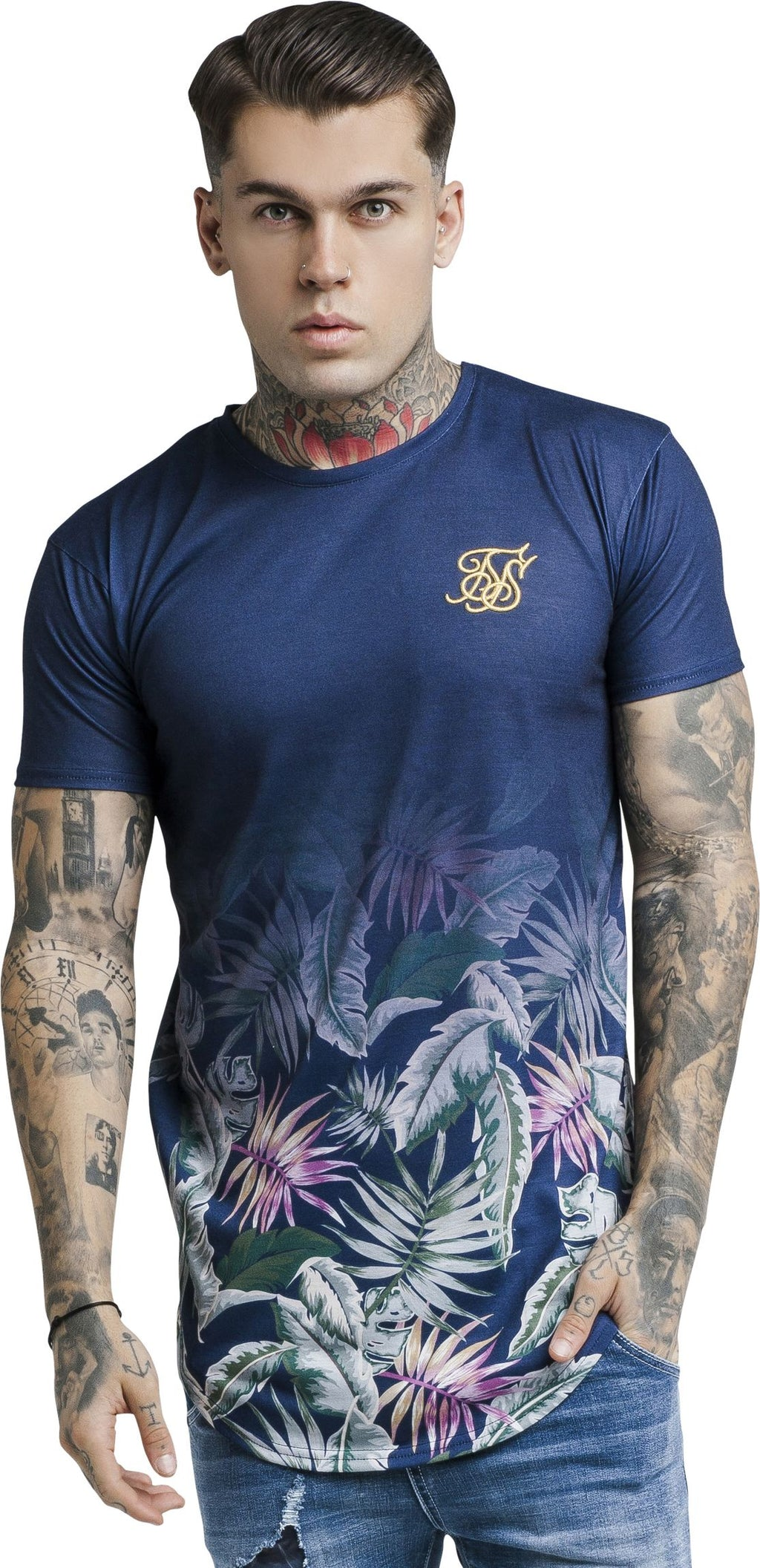 Sik Silk Jeremy Vine T-Shirt Blue