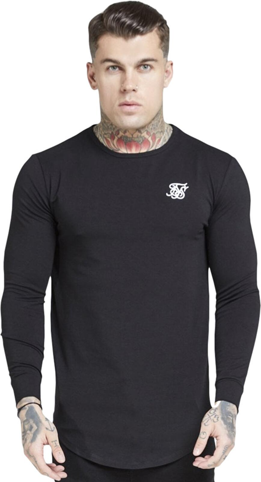 Sik Silk Long Sleeve Core Gym T-Shirt Black