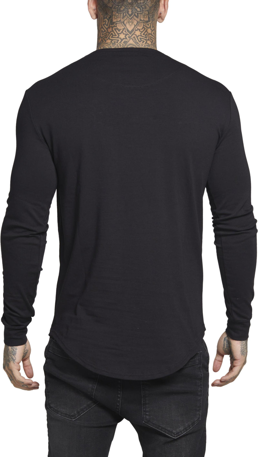 Sik Silk Long Sleeve Gym T-Shirt Black